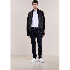 Swetry rozpinane męskie: Falke HERRINBONE Kardigan black/grau