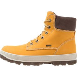 Superfit TEDD Śniegowce curry. Żółte buty zimowe chłopięce marki Superfit, z materiału. W wyprzedaży za 351,20 zł.