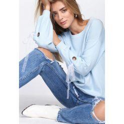 Swetry klasyczne damskie: Niebieski Sweter Just Kiss