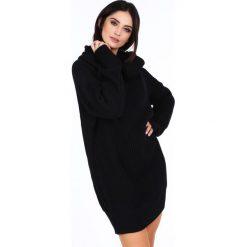 Sweter z golfem oversizowy czarny 0208. Czarne golfy damskie Fasardi. Za 89,00 zł.