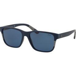 Polo Ralph Lauren - Okulary. Brązowe okulary przeciwsłoneczne męskie wayfarery Polo Ralph Lauren, z materiału, prostokątne. Za 499,90 zł.