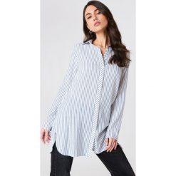 Glamorous Długa koszula z wiązaniem na rękawach - Blue,Multicolor. Różowe koszule damskie marki Glamorous, z nadrukiem, z asymetrycznym kołnierzem, asymetryczne. W wyprzedaży za 80,98 zł.