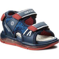 Sandały GEOX - B Sand. Todo B.B B820GB 05411 C0735 Navy/Red. Niebieskie sandały chłopięce Geox, z materiału. W wyprzedaży za 219,00 zł.