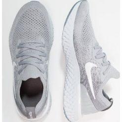 Nike Performance EPIC REACT FLYKNIT Obuwie do biegania treningowe wolf grey/white. Szare buty do biegania damskie Nike Performance, z materiału. Za 549,00 zł.
