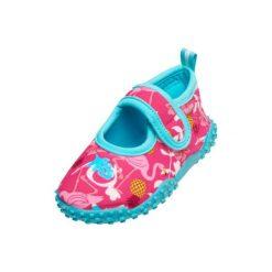 Playshoes  Buty do wody Flamingo turkusowy - Gr.Moda (6 - 24 miesięcy ). Niebieskie buciki niemowlęce Playshoes, z materiału. Za 59,00 zł.
