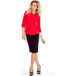 Czerwona Klasyczna Dopasowana Koszula. Czerwone koszule damskie Molly.pl, s, eleganckie, z klasycznym kołnierzykiem, z długim rękawem. Za 109,90 zł.