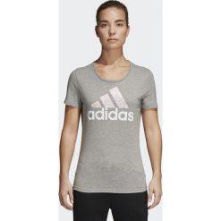 KOSZULKA ADIDAS FOIL TEXT BOS. Białe bluzki sportowe damskie Adidas, z bawełny, z krótkim rękawem. Za 89,99 zł.