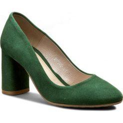 Półbuty BALDACCINI - 804000-A Zielony Zamsz. Zielone creepersy damskie Baldaccini, z materiału, eleganckie, na obcasie. W wyprzedaży za 199,00 zł.
