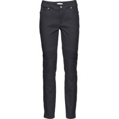 Spodnie ze stretchem SKINNY bonprix ciemnoszary. Szare rurki damskie bonprix. Za 129,99 zł.