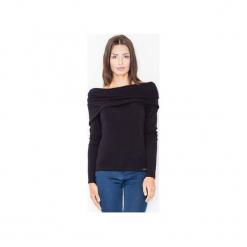 Bluzka M469 Czarny. Czarne bluzki longsleeves marki FIGL, m, z golfem. Za 119,00 zł.