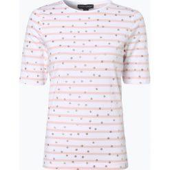 Franco Callegari - Koszulka damska, różowy. Czerwone t-shirty damskie Franco Callegari, w kropki, z dżerseju, z klasycznym kołnierzykiem. Za 69,95 zł.