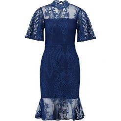Love Triangle ROMAN HOLIDAY MIDI DRESS Sukienka koktajlowa navy. Niebieskie sukienki koktajlowe Love Triangle, z materiału, midi. Za 349,00 zł.