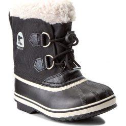 Śniegowce SOREL - Childrens Yoot Pac Nylon NC1879-010 Black. Czarne buty zimowe chłopięce marki Sorel, z gumy, na niskim obcasie. W wyprzedaży za 209,00 zł.