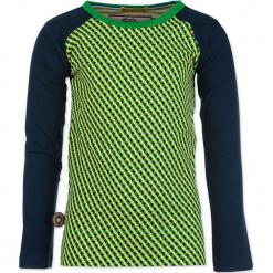 """Koszulka """"The Only Way Is Up"""" w kolorze granatowo-żółto-zielonym. Białe t-shirty chłopięce z długim rękawem marki UP ALL NIGHT, z bawełny. W wyprzedaży za 82,95 zł."""