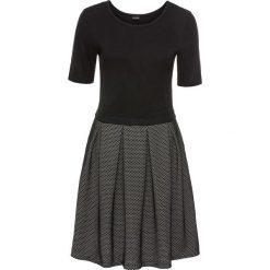 Sukienki dzianinowe: Sukienka dzianinowa bonprix czarno-biały