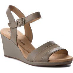 Rzymianki damskie: Sandały CLARKS – Lafley Aletha 261337944 Sage Leather