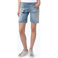 Please - Spodenki damskie, niebieski. Niebieskie szorty damskie z printem marki Please, z jeansu, eleganckie. Za 349,95 zł.