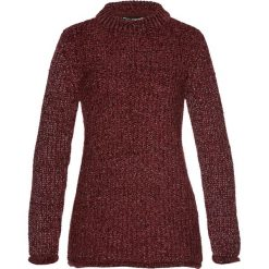 Swetry klasyczne damskie: Sweter z szenili bonprix czerwony klonowy – srebrny kolor
