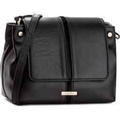 Torebka CALVIN KLEIN BLACK LABEL - Dan1 Flap Crossbody K60K603413  001. Czarne listonoszki damskie marki Calvin Klein Black Label, z materiału. W wyprzedaży za 519,00 zł.