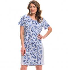 Koszula nocna w kolorze szaro-niebieskim. Niebieskie koszule nocne i halki Doctor Nap. W wyprzedaży za 59,95 zł.