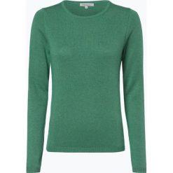 Apriori - Sweter damski z mieszanki jedwabiu i kaszmiru, zielony. Niebieskie swetry klasyczne damskie marki Apriori, l. Za 299,95 zł.