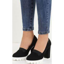 Czarne Czółenka Ladina. Białe buty ślubne damskie marki Reserved, na wysokim obcasie. Za 44,99 zł.