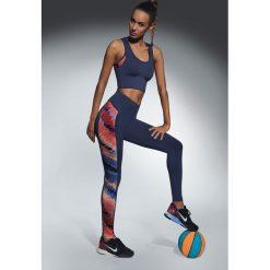 Damskie legginsy sportowe Rainbow. Szare legginsy skórzane marki Fasardi, l, w kolorowe wzory. Za 94,99 zł.