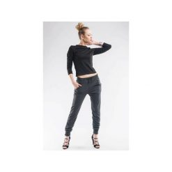 Spodnie dresowe damskie: Spodnie dresowe ze ściągaczami SL4010