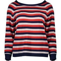 Sweter w kolorze biało-czerwono-granatowym. Czerwone swetry klasyczne damskie marki GANT, s, z dzianiny, z dekoltem na plecach. W wyprzedaży za 409,95 zł.