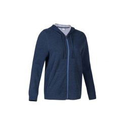 Bluza na zamek z kapturem Gym & Pilates 520 damska. Czarne bluzy sportowe damskie marki DOMYOS, z elastanu. Za 64,99 zł.