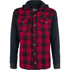 Vixxsin Quinn Jacket Koszula czerwony. Czerwone koszule męskie na spinki marki Cropp, l, z kapturem. Za 244,90 zł.