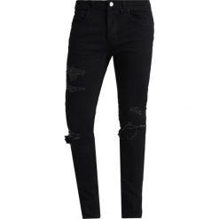Mennace DISTRESSED  Jeans Skinny Fit jet black. Czarne rurki męskie Mennace. Za 269,00 zł.