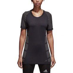 Koszulka do biegania damska ADIDAS ULTRA PRIMEKNIT LIGHT TEE / CF6000. Czarne bluzki z odkrytymi ramionami Adidas, z krótkim rękawem. Za 181,00 zł.