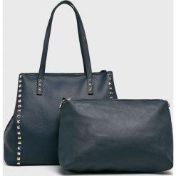 Answear - Torebka. Szare torebki klasyczne damskie marki ANSWEAR, z materiału, duże. Za 119,90 zł.