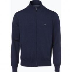 Fynch Hatton - Kardigan męski, niebieski. Niebieskie swetry rozpinane męskie Fynch-Hatton, l, klasyczne, z klasycznym kołnierzykiem. Za 299,95 zł.