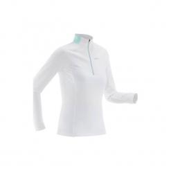 Koszulka narciarska Warm XC S 100 damska. Zielone t-shirty damskie marki INOVIK, s, z elastanu. Za 59,99 zł.