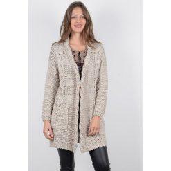 Długi rozpinany sweter. Szare kardigany damskie marki La Redoute Collections, m, z bawełny, z kapturem. Za 340,16 zł.