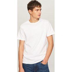 T-shirty męskie: Jednolity t-shirt – Biały