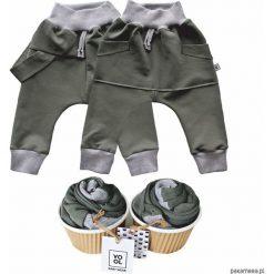 Odzież dziecięca: Spodnie baggy szelki + kangurek 2 pack olive