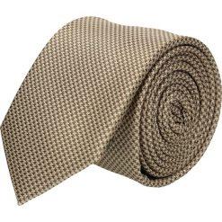 Krawaty męskie: krawat platinum brąz classic 205