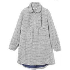 Sukienki dziewczęce z falbanami: Sukienka koszulowa w groszki 3-12 lat