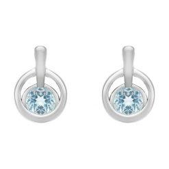 Kolczyki damskie: Srebrne Kolczyki – srebro 925, Topaz swiss blue