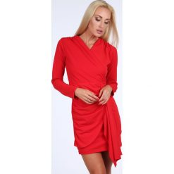 Sukienka z dapowaniem czerwona 1817. Czarne sukienki z falbanami marki Fasardi, m, z dresówki. Za 69,00 zł.