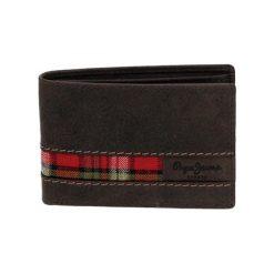 Portfele męskie: Skórzany portfel w kolorze brązowym – (S)11 x (W)7,6 cm