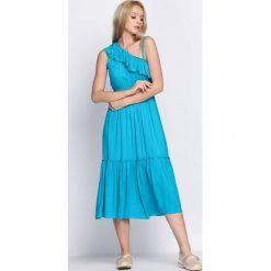Sukienki: Niebieska Sukienka On High