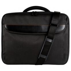 """Sumdex Continent  CC - 089BK 15""""-16"""" czarna. Czarne torby na laptopa Sumdex, w paski. Za 64,90 zł."""