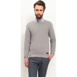 SWETER DŁUGI RĘKAW MĘSKI. Szare swetry klasyczne męskie Top Secret, na jesień, m, z golfem. Za 59,99 zł.
