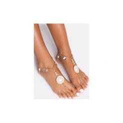 Bransoletki damskie: Biała bransoletka na stopę Shells