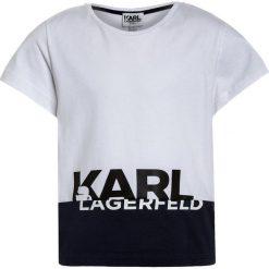 T-shirty chłopięce z nadrukiem: KARL LAGERFELD Tshirt z nadrukiem weiß/marine