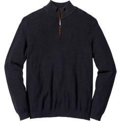 Sweter ze stójką Regular Fit bonprix czarny. Czarne golfy męskie marki bonprix, m. Za 49,99 zł.